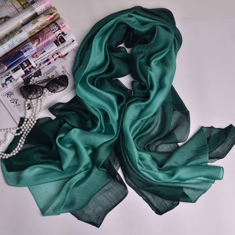 New Arrival Nice   Scarves   &   Wraps   Silk Modal   Scarf   Shawl Gradient Color Woman Ladies Spring Neckerchief