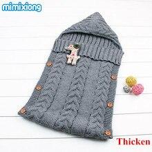 Baby Winter Stroller Sleep Sack 2017 Newborn Toddler Hoody Sleeping Bags Autumn Wrap Warm Knitted Envelope for Infant Boys Girls