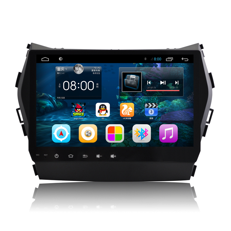 9 Quad Core Android 4 4 1024X600 Car Stereo Audio Head Unit Headunit Autoradio for Hyundai
