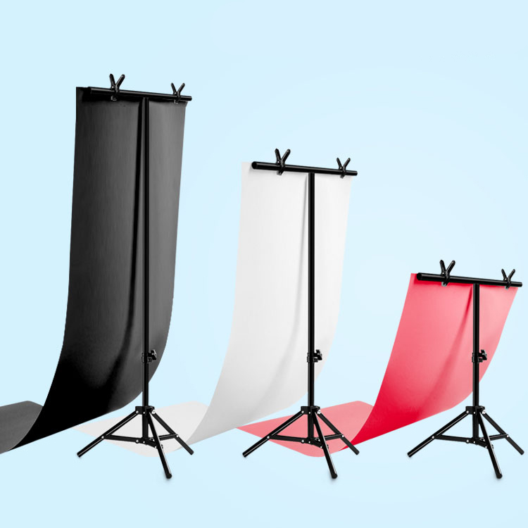 Free Ship Photo Backdrop Stand Photo Studio Background Support big PVC Background Holder Photo Stand 152cm X 200cm or 66X80CM(China)