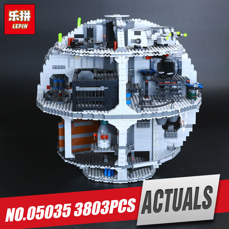 LEPIN 05035 Star Death Toys Star Model 3803pcs Building Block Bricks War Toys Kits Compatible for Children birthday Gifts 10188 lepin 22001 pirate ship imperial warships model building block briks toys gift 1717pcs compatible legoed 10210