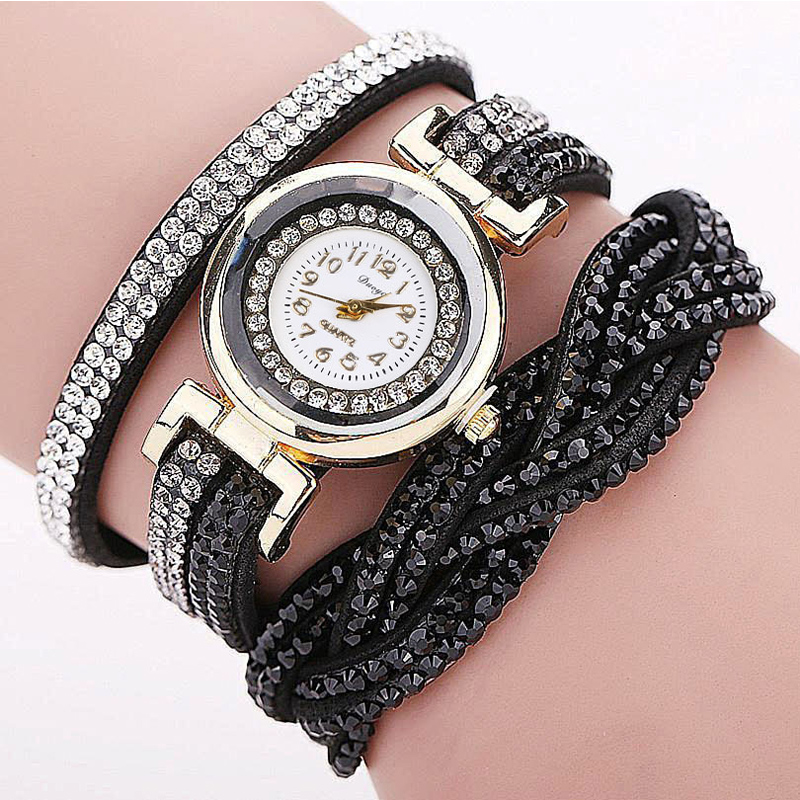 TIke Toker, Mode Luxe Strass Armband Dameshorloge, Dames Quartz - Herenhorloges - Foto 5