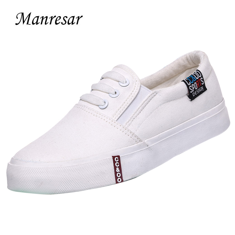 Manresar 2017 Women Zapatos Mujer Flats Women Casual High Quality Canvas Shoes Fashion Black and White Women Shoes Size 35-40 manresar 2017 new women canvas casual shoes high platform wedge girl trainers breathable outdoor walking zapatillas mujer 35 40