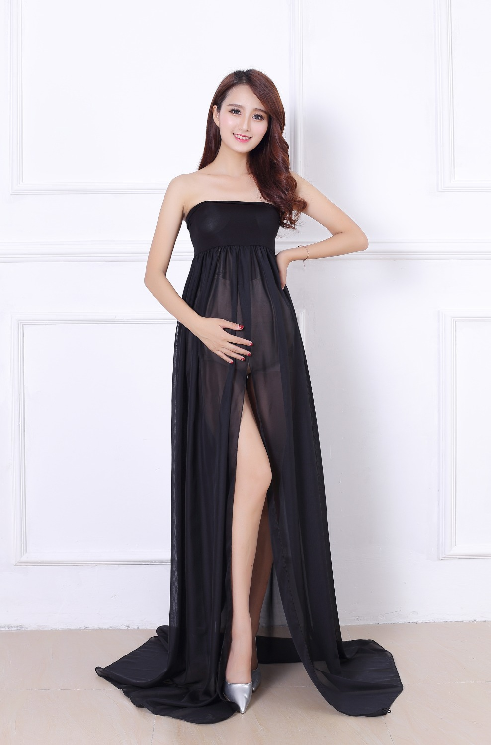 Black maternity dress long maxy floor dresses for pregnant women black maternity dress long maxy floor dresses for pregnant women photography shoots ball gown chiffon beach dresses pregnancy in dresses from mother kids ombrellifo Choice Image