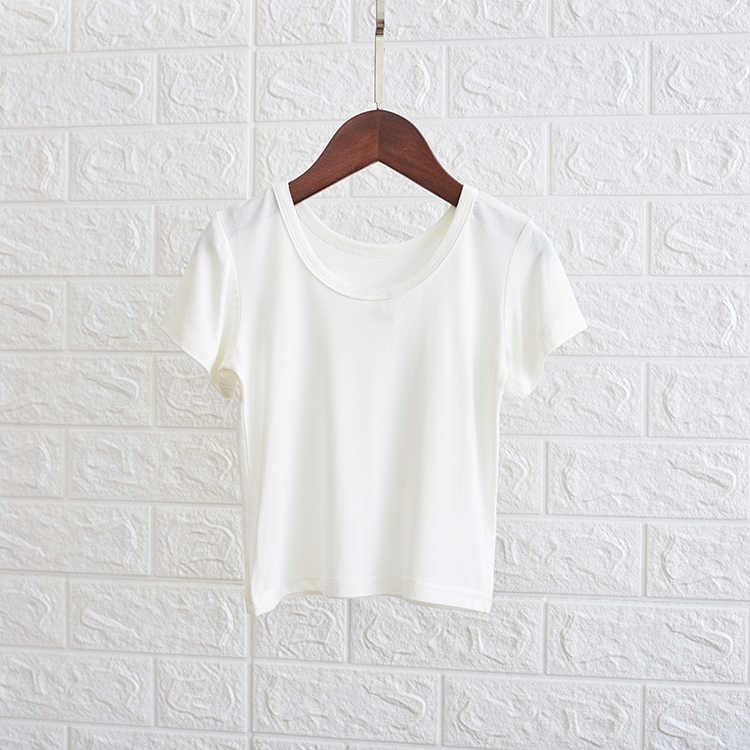 مخطط فتاة تي شيرتات قصيرة الاكمام ملابس الأطفال الصيف الكورية المد الموضة