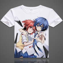 Free shipping High quality Naruto short sleeve Akuma no Riddle T shirt Kakashi itachi sasuke gaara