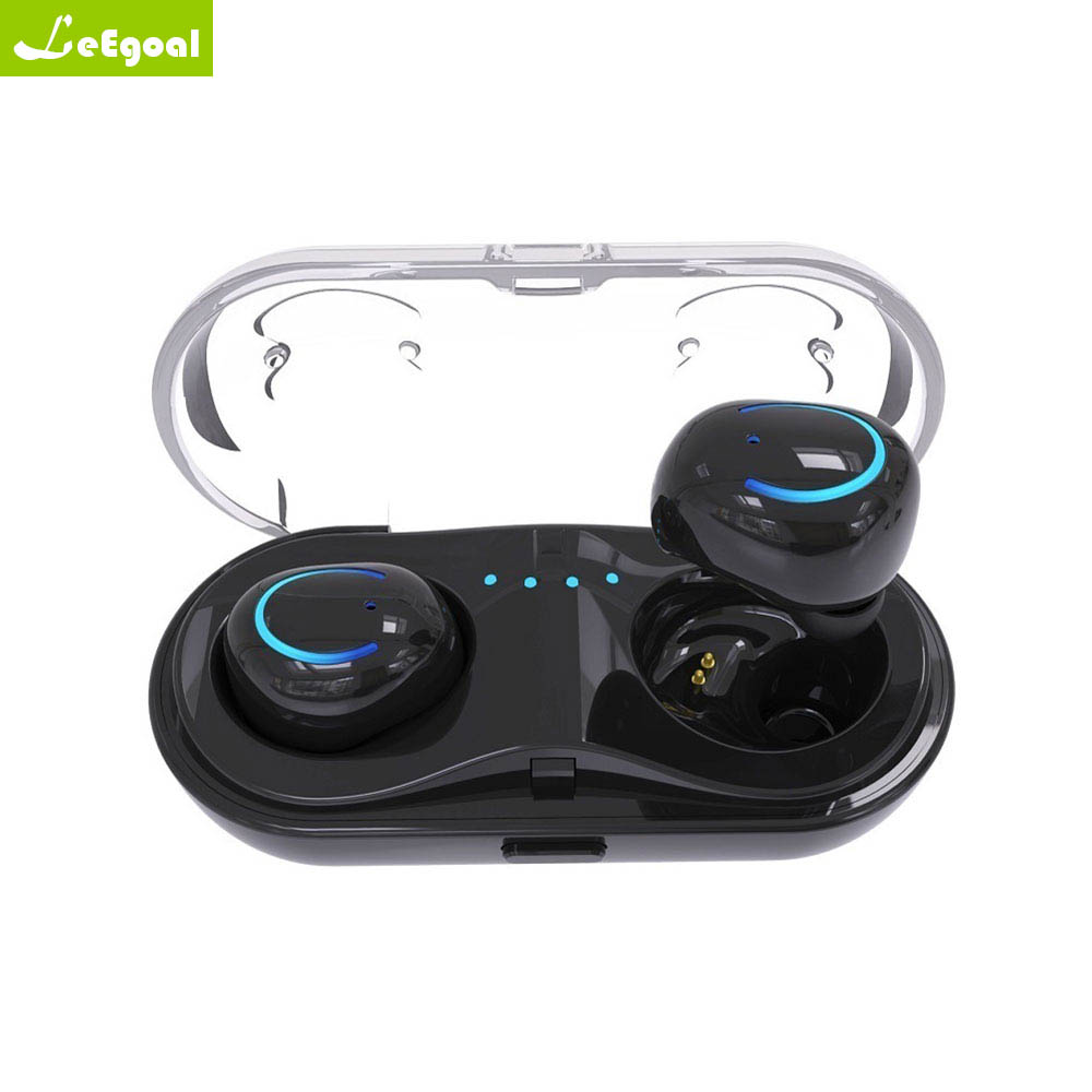 leegoal TWS Q18 Wireless Bluetooth Headset HiFi Bass Earphone with Charging Box Earphones For iPhone Xiaomi PK X2T i7s a7 tws wireless bluetooth headset stereo handfree sports bluetooth earphone with charging box for iphone android pk x2t i7 i7s