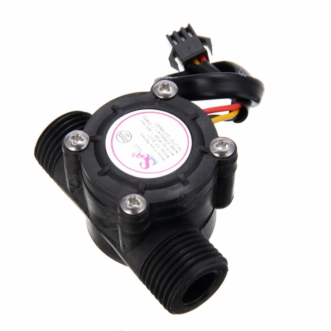 Sensore di flusso dell'acqua 1-30L / min Flussimetro 1/2