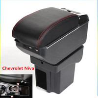 For Chevrolet Niva armrest box universal car center console modification accessories double raised with usb