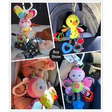 Baby Rattles Toys Stroller Hanging Soft Toy Cute Animal Doll