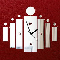 Luxury DIY 3D Home Modern Mirror Quartz Wall Clock Wall Watch For Home Living Bed Kids