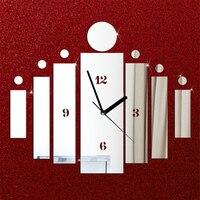Luxury DIY 3D Home Modern Mirror Quartz Wall Clock Wall Watch For Home Living Bed Kids