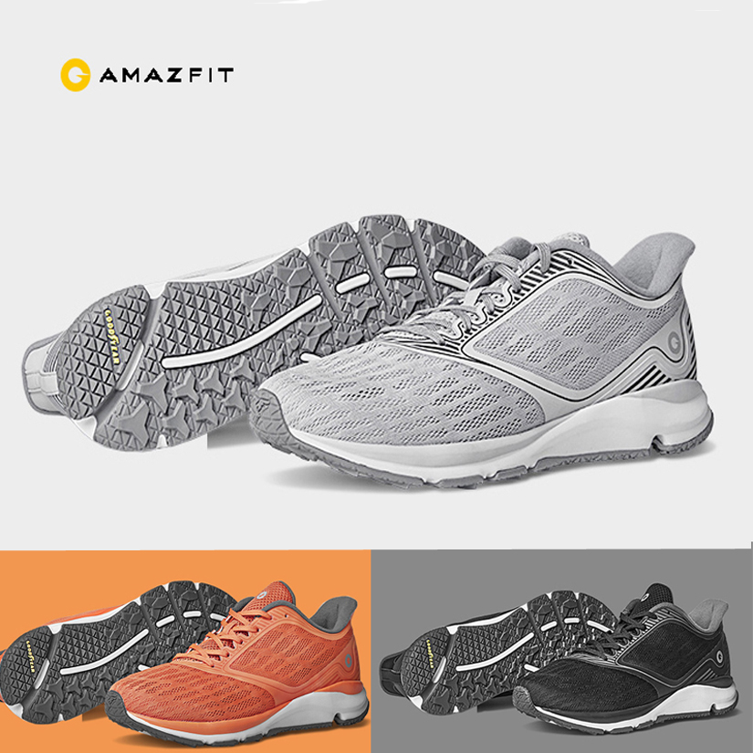 Xiaomi Man Women Xiaomi Amazfit Antelope Light Outdoor Sports Sneaker ERC Material Goodyear Rubber Support Chip Sports Shoes 2
