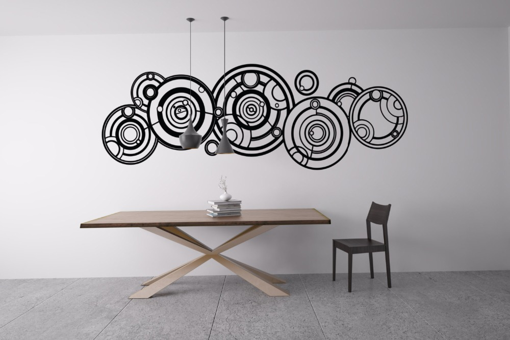 Running Gears Pattern In Tribal Art Wall Stickers Posters Home Decor Living Rooms Vinyl