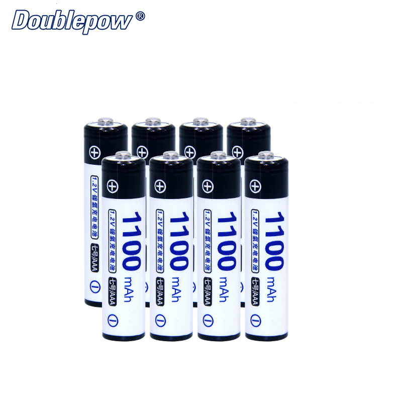 8pcs/Lot Doublepow DP-AAA1100mA 1.2V Ni-MH Rechargeable Battery in Actual High Capacity of 1100mA Battery Cell FREE SHIPPING