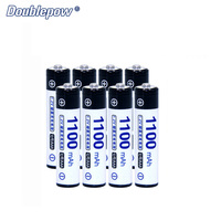 8pcs Lot Doublepow DP AAA1100mA 1 2V 1100mA Ni MH Rechargeable Battery In Strong Power Full