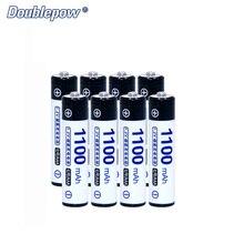 8 шт./лот Doublepow DP-AAA1100mA 1,2 В Ni-MH Перезаряжаемые Батарея в фактической высокое Ёмкость из 1100mA Батарея ячейки Бесплатная доставка