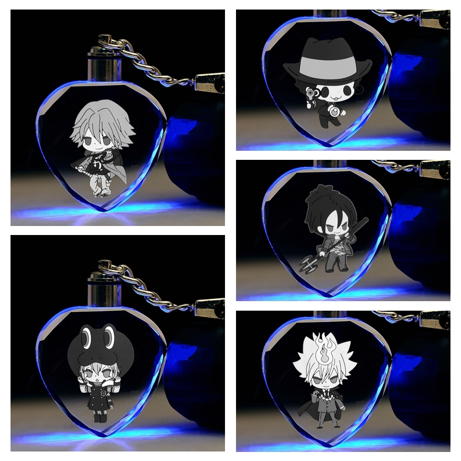 Action-Figures HITMAN REBORN Toy-Chain Key-Collection Gifts Anime LED Heart-Shaped IVYYE