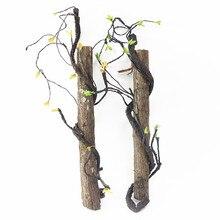 Flone как настоящие искусственные ветви деревьев ротанга искусственная Цветочная лоза для дома отеля свадьбы DIY декоративный венок