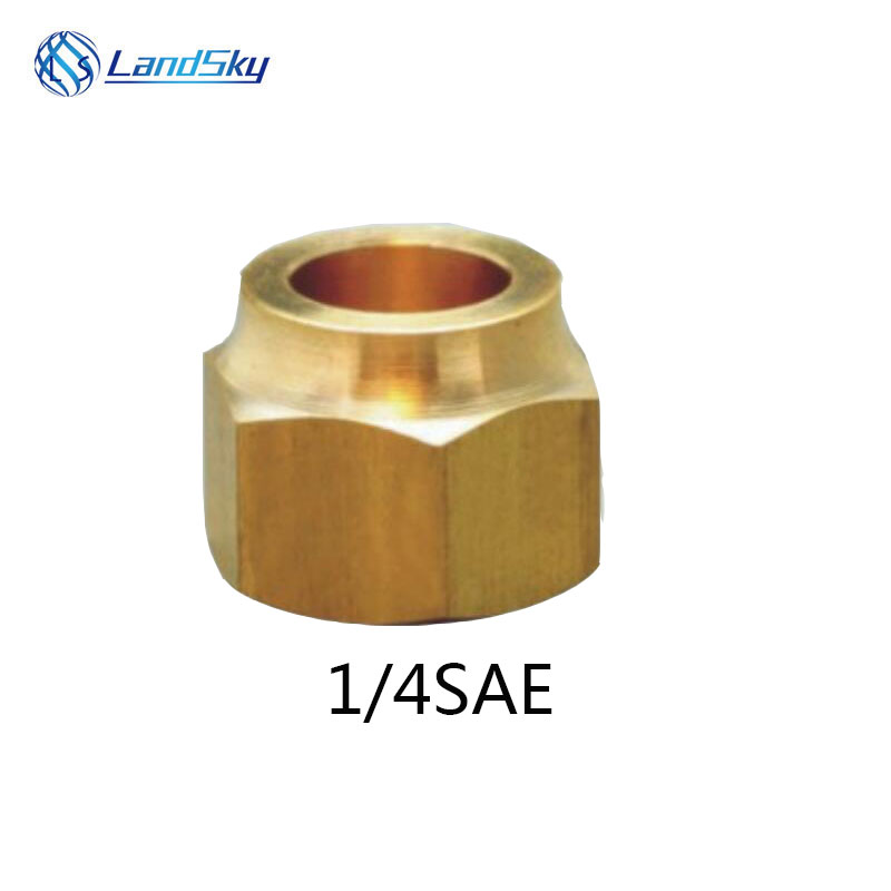 air conditioning refrigeration Brass 1/4SAE Ignace Flare copper nut Pipe Copper Nut