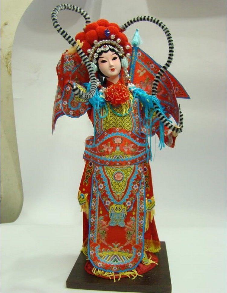 Élaborée Broider Poupée Chinois style Ancien figurine Chine poupée fille statue No 2
