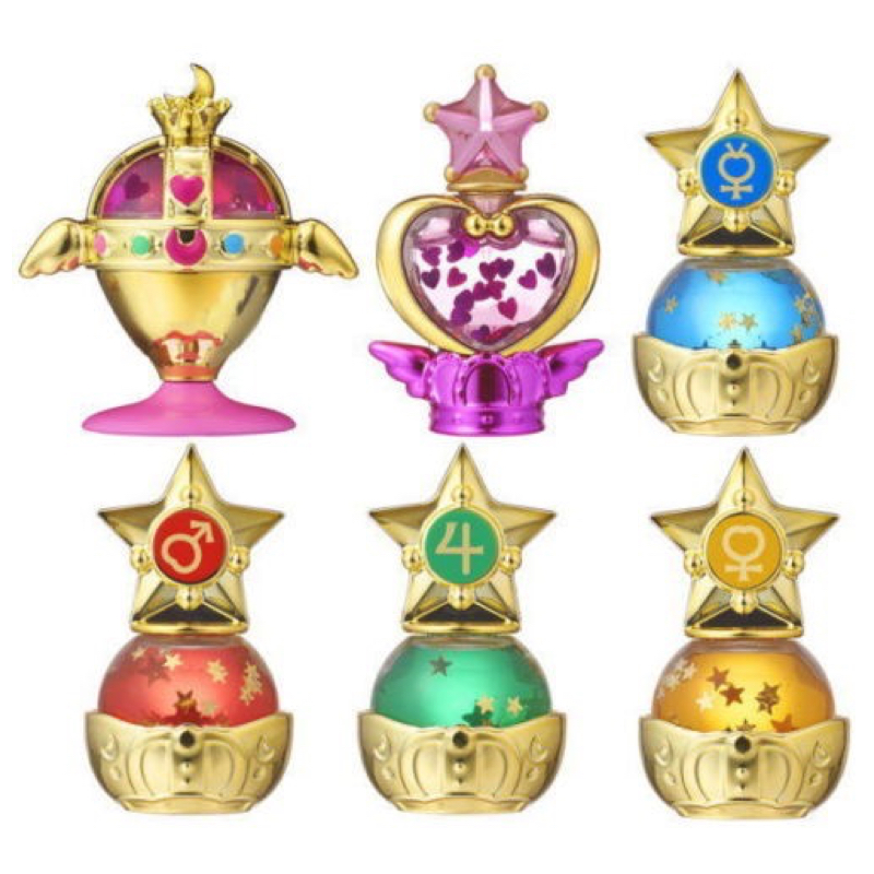 Sailor Moon Gashapon Prism Power Dome Part 1 Water Globe Complete Set 6 100% Original sailor moon stained crystal light gashapon set of 4 japan anime mascot 100% original