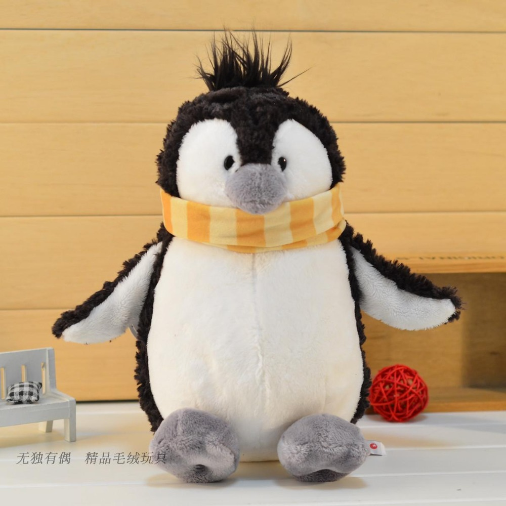 candice guo! hot sale cute plush toy stuffed doll NICI lovely winter scarf penguin lover Christmas birthday gift 1pc candice guo nici plush photo album 6 100pcs graduation anniversary gift genuine children s cartoon plush toys 1pc