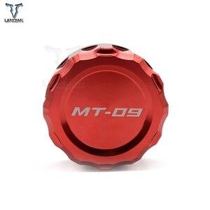Image 2 - LOGO MT 09 moto CNC avant et arrière frein liquide cylindre maître réservoir couvercle pour Yamaha MT 09 MT09 mt09 2013 2014