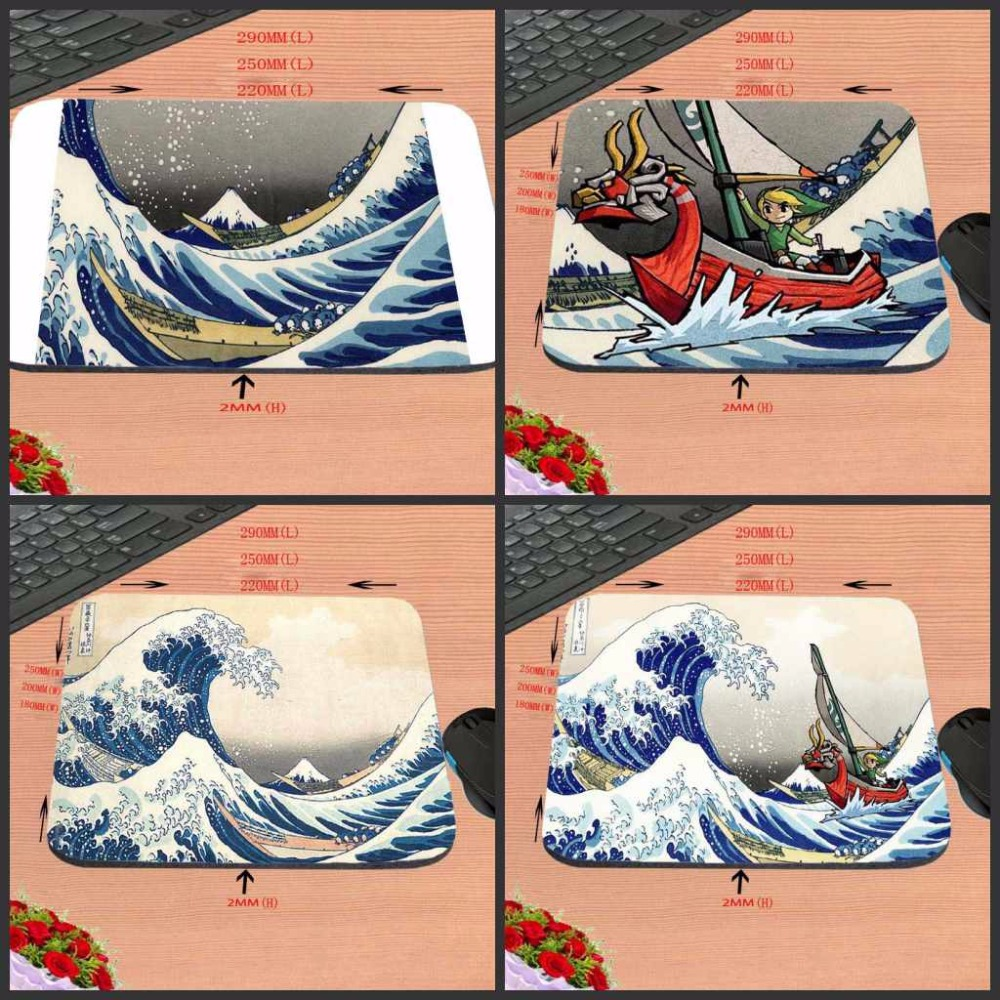 Mairuige High quality New Arrival The Legend of Zelda Blue Waves Customized Mouse Pad Computer Notebook Non-Slip Mousepad