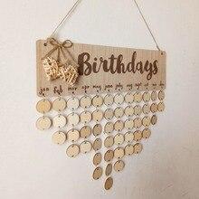 Chritsmas день рождения специальные дни доска напоминаний домашний подвесной Декор деревянная доска с календарем подвесное украшение Новогоднее украшение