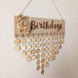 Chritsmas доска напоминаний на день рождения, для украшения дома, деревянный календарь, подвесное украшение, Новогоднее украшение