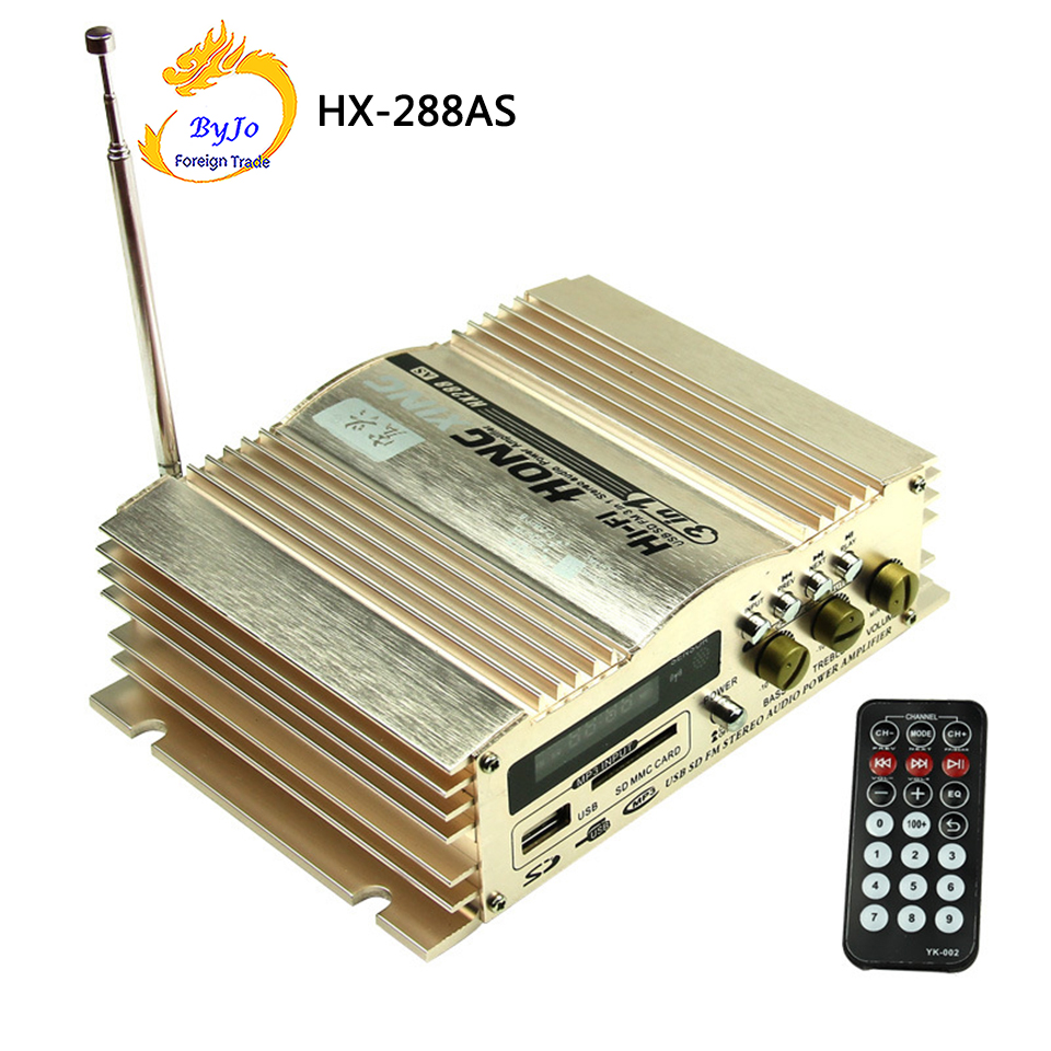 HONGXING HX-288AS Amplifier 40Wx2 12V 2 Channel Hi-Fi Car Stereo Amplifier FM Radio MP3 AMP Speaker and Remote sana salous radio propagation measurement and channel modelling