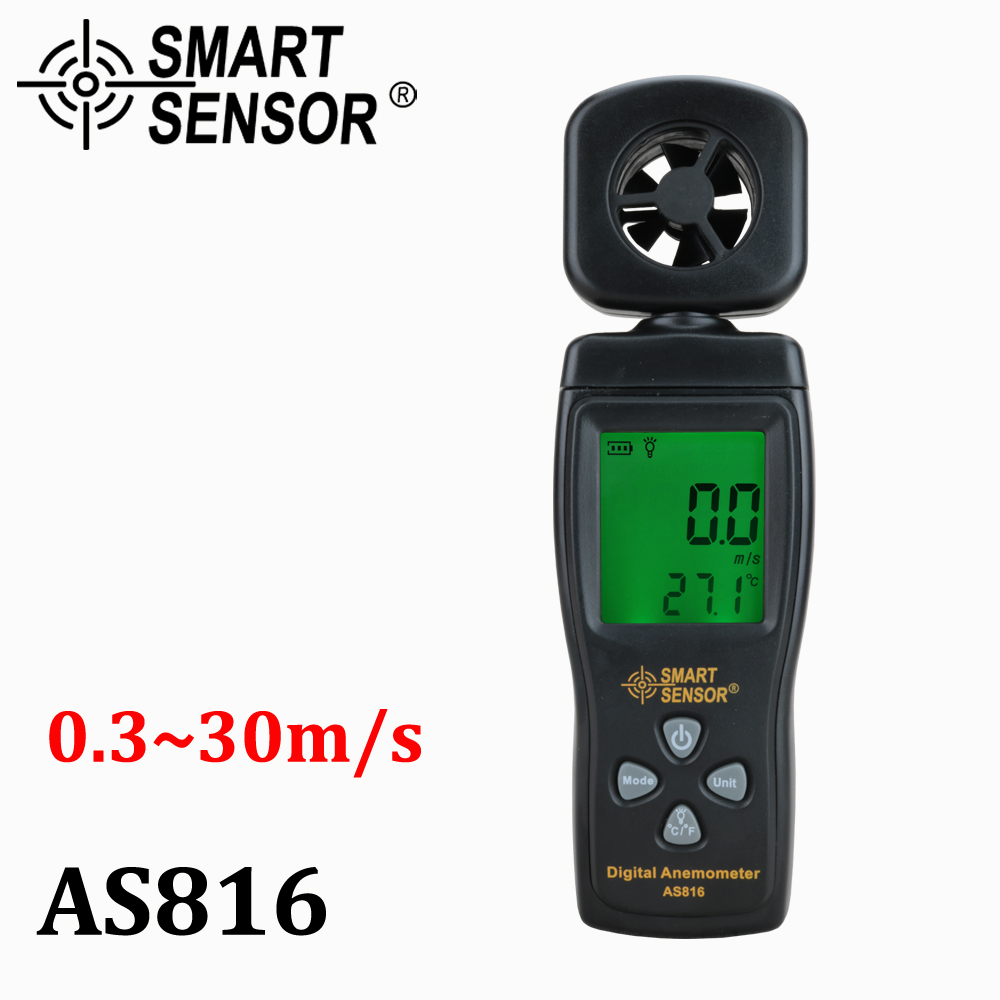 Multifunctional anemometer LCD wind speed meter Air Velocity Gauge windmeter diagnostic-tool Temperature Measuring W/ backlight tl 300 digital lcd air temperature anemometer air velocity wind speed meter
