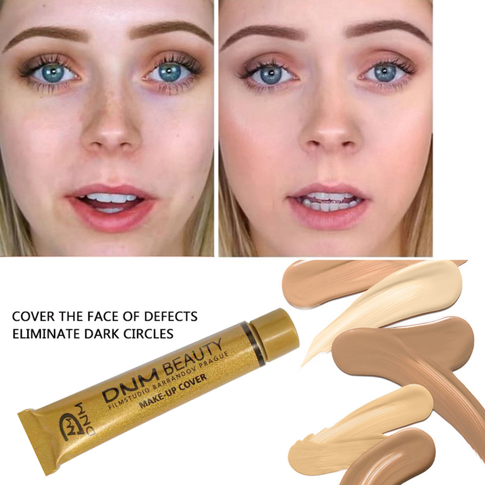 DNM Waterproof Make Up Concealer Dark circles Foundation Cream Liquid Lasting Small Gold Tube Contouring Makeup maquiagem TSLM2