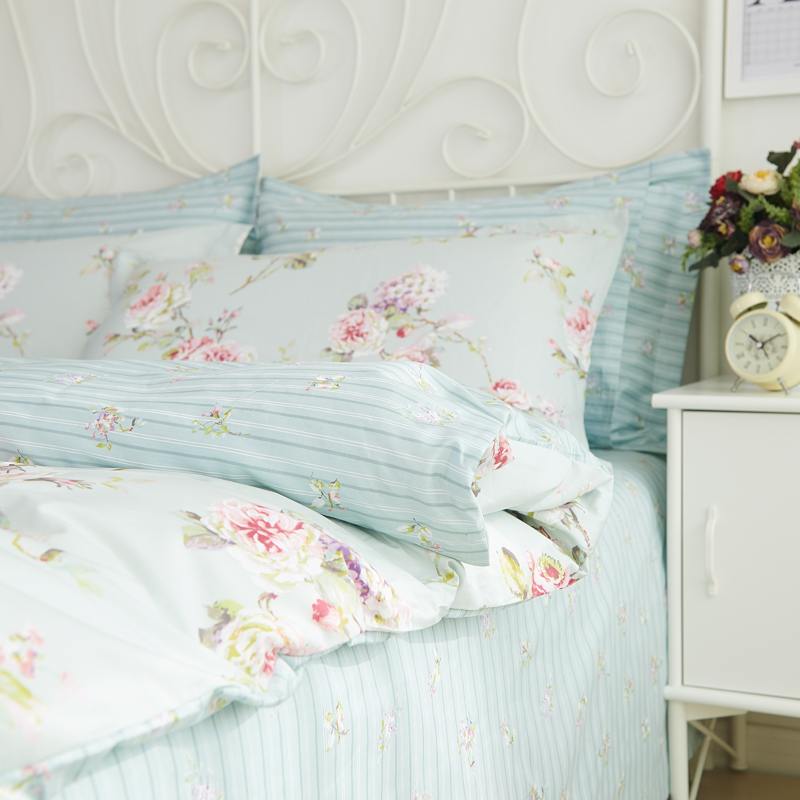 romantic american country style vintage floral bedroom setdesigner shabby girls bedding setmodern flowers jacquard bed coverin bedding sets from home