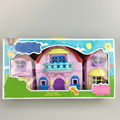 Nueva Cerdo Familia Figuras Juguetes Play House PlaySet Con Música Iluminación juguetes de Cumpleaños Navidad Regalo de Año Nuevo