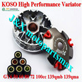 KOSO High Performance Variator Set with Copper Rollers For Most Chinese 50cc GY6 Scooter Honda Dio ZX Spare Part