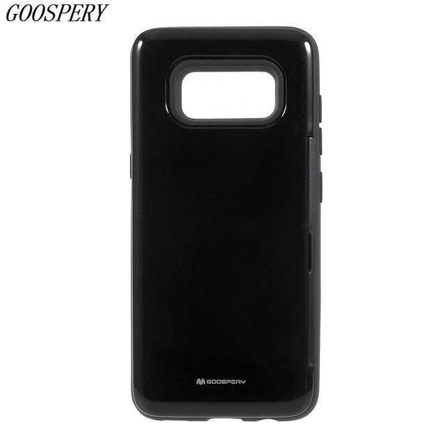 MERCURY GOOSPERY Happy Series Card Bumper PC TPU Hybrid Card Slot Cover Case for Samsung Galaxy S8 SM-G950