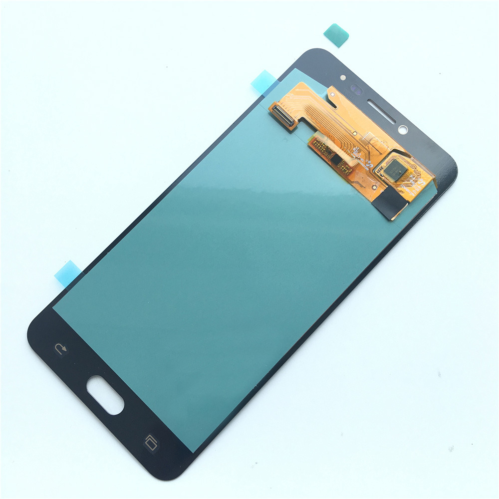 Buy Amoled Lcd For Samsung Galaxy C7 Display Touchscreen A800 A8 2015 Gold Oem C7000 Touch Screen Digitizer Replacement From Reliable Mobile Phone