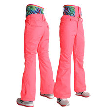 Women High Waist Ski Pants Snowboard Pants Single and Double Plate Thermal Female Waterproof Windproof Free Shipping