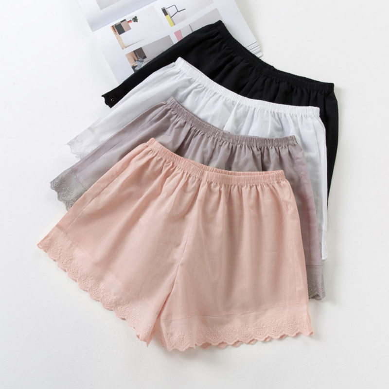Women's Summer Shorts Cotton Lace Comfortable Solid Color Shorts Casual Breathable Light  Soft Shorts