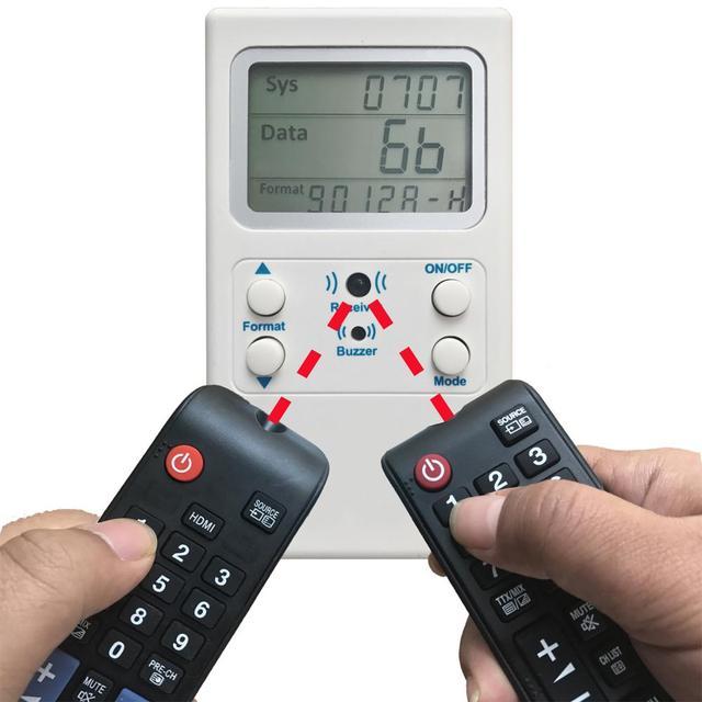 ТВ ИК пульт дистанционного управления управляющий декодер тестер инфракрасный пульт дистанционного управления тестер декодера