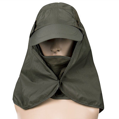 0310ba7c Hiking Boonie Hunting Snap Hat Fishing Outdoor Brim Ear Neck Cover Sun Flap  Cap
