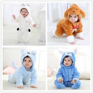 Image 5 - Baby Rompertjes Dieren Warm Winter Coral Fleece Leuke Vis Pyjama Kerst Pasgeboren Baby Jongen Meisje Pijamas De Bebe Recem Nascido
