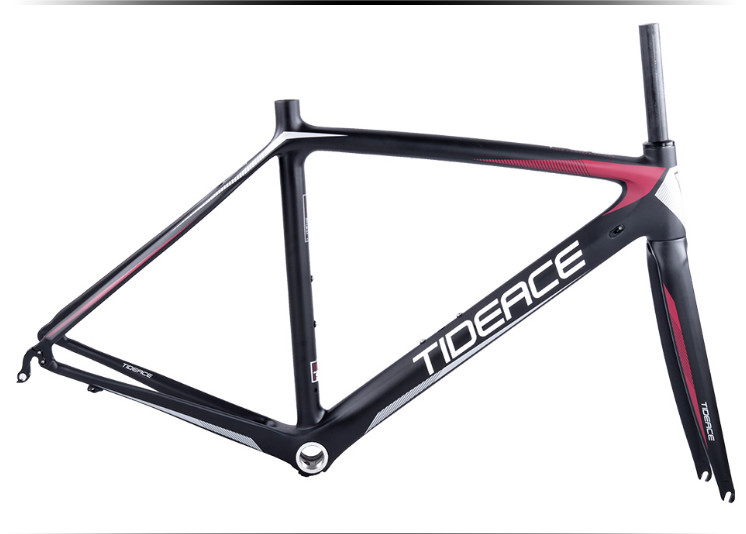 HTB1Gm0KkPihSKJjy0Fiq6AuiFXaQ - 2017-2018 Tideace aero Cadre Route Frameset Made in China Carbon Fiber Road Bike Frame Bicycle Frame 50/53/55cm