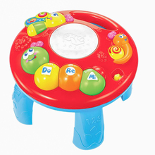 TOT Kids Lighting Music Caterpillar Hand Drum Learning Table Education Interactive GOOD QUALITY Baby Electronic Organ Toy Gifts