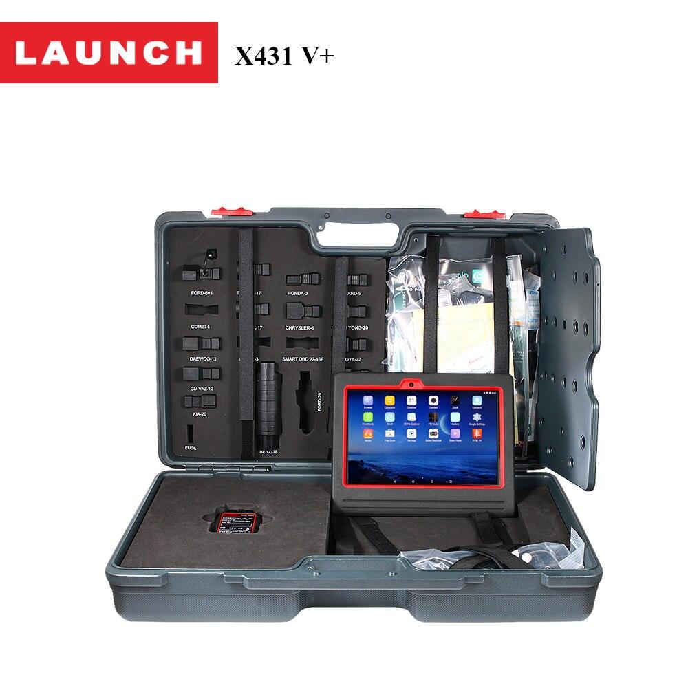 Prix pour 100% D'origine Lancement 2 Année Mise À Jour Gratuite Scanner X431 V + De Diagnostic complet système ECU outil d'analyse Voiture avec Wifi/Bluetooth accessoires