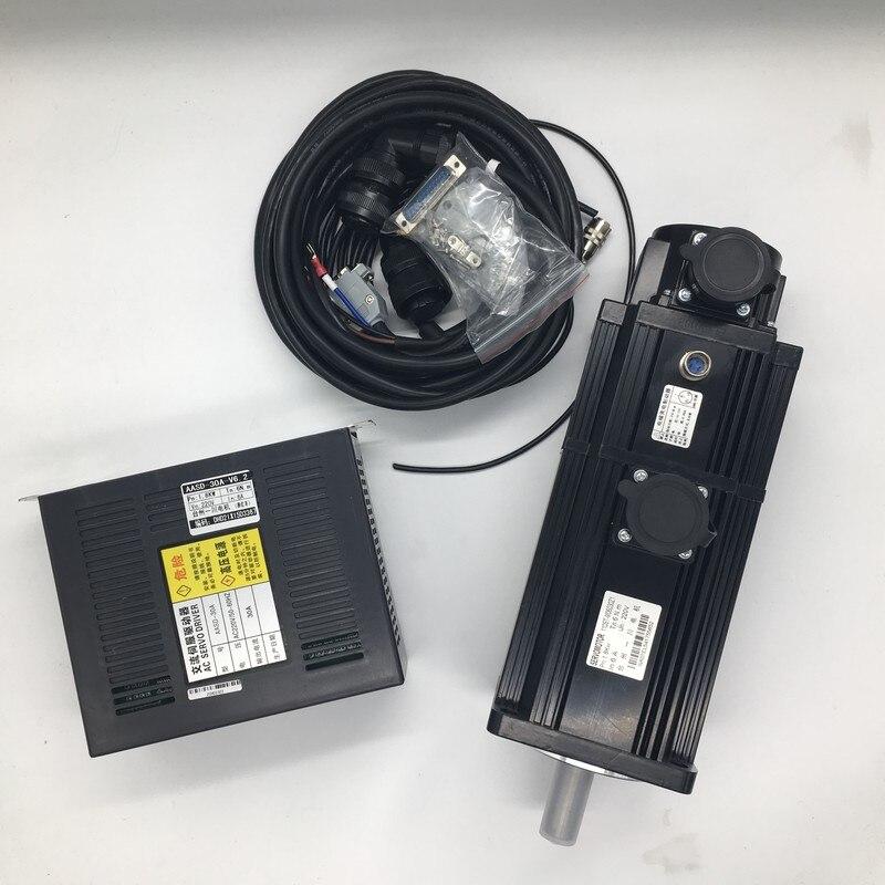 400W  AC Servo Motor Drive Kits NEMA24 60mm 220V 3000r//min Modbus RS485 for CNC