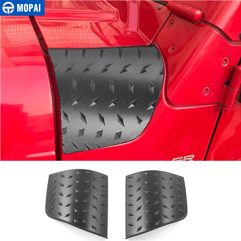 Image 1 - MOPAI ABS For Jeep Wrangler TJ 1997 2006 Hoods Angle Wrap Cover Stickers Car Exterior Body Side Engine Cover Protect Styling-in Car Stickers from Automobiles & Motorcycles