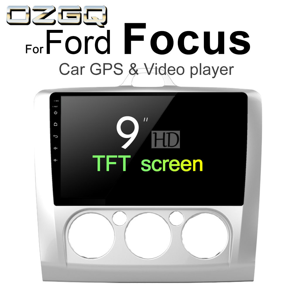 OZGQ Android 7.1 Car Player For Ford Focus 2004-2011 HD Screen Auto GPS Navigation Bluetooth Radio TV Audio Video Music Stereo legacy audio focus hd black pearl page 1